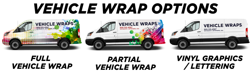 Scottsdale Vehicle Wraps vehicle wrap options