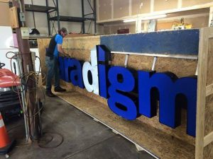 Youngtown Custom Signs channel letter fabrication install 300x225