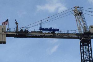 custom crane sign install